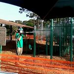 Paint removal from playground equipment - Dustless Blasting