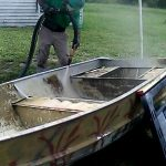 Antifouling Paint Removal from Bottom of Boat - Dustless Blasting Brevard County Florida