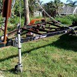 Boat Trailer Paint Removal - Dustless Blasting Brevard County Florida