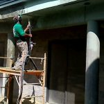 Remove paint and stucco from concrete block structures with Dustless Blasting Brevard County FL